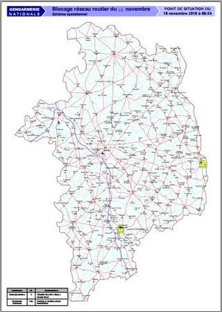 Carte Des Blocages Dimanche 18 Novembre 2018 Rassemblement National Samedi 12 Janvier 2019 A Bourges Evenements Actualites Accueil Les Services De L Etat Dans Le Cher