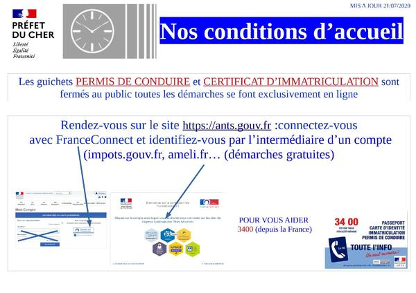 Conditions d'accueil