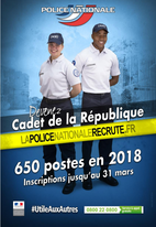 RECRUTEMENT DE CADETS DE LA RÉPUBLIQUE - OPTION POLICE NATIONALE